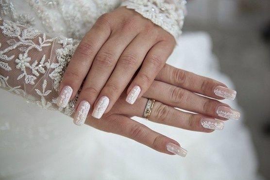 маникюр шеллак невесте фото
