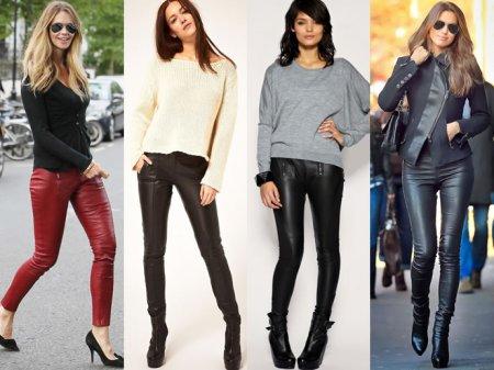 Шкіряні штани  як і з чим носити  31a510dcba81c