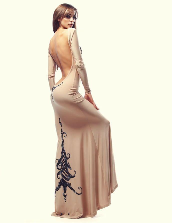 Фото платьев с голой спиной
